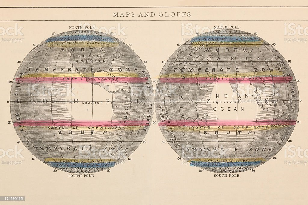 Maps and Globes stock photo