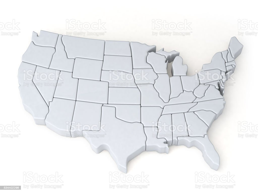 Maps of the United States stock photo
