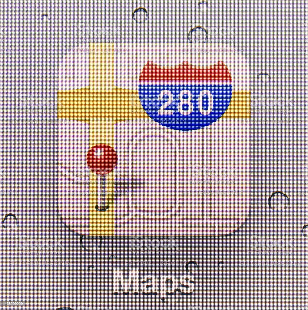 Maps royalty-free stock photo