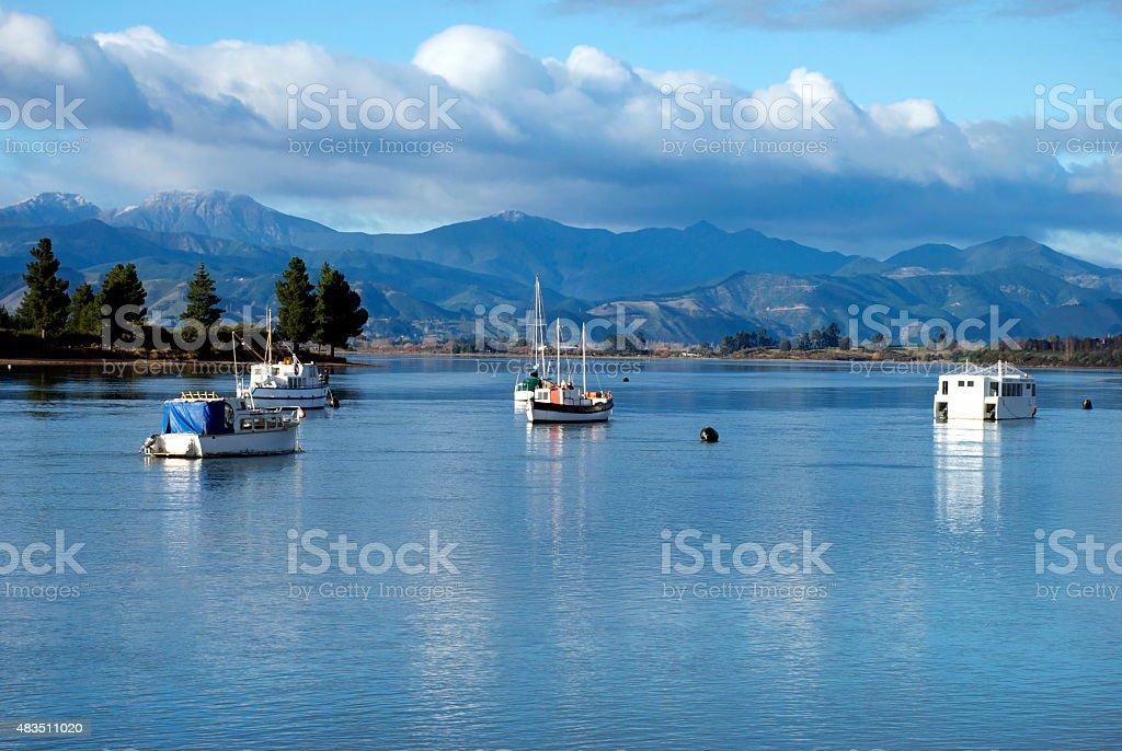 Mapua Estuary, Nelson, New Zealand stock photo