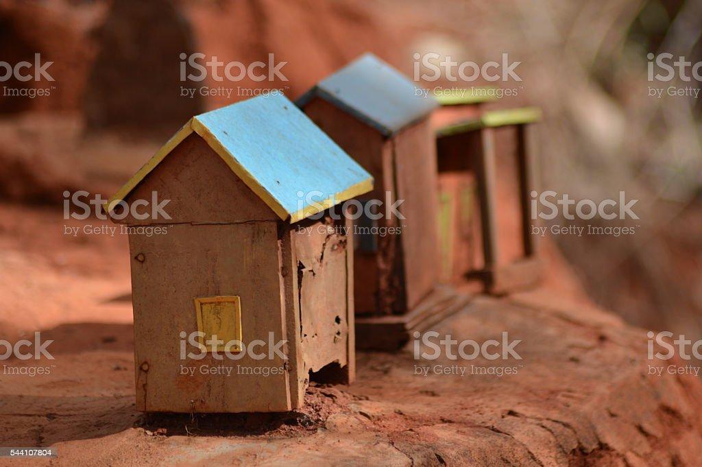 Maquette d'une maison malagasy stock photo