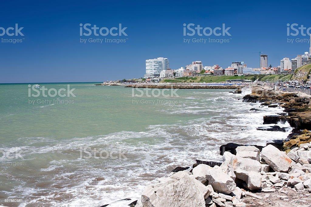 Mar del Plata City stock photo