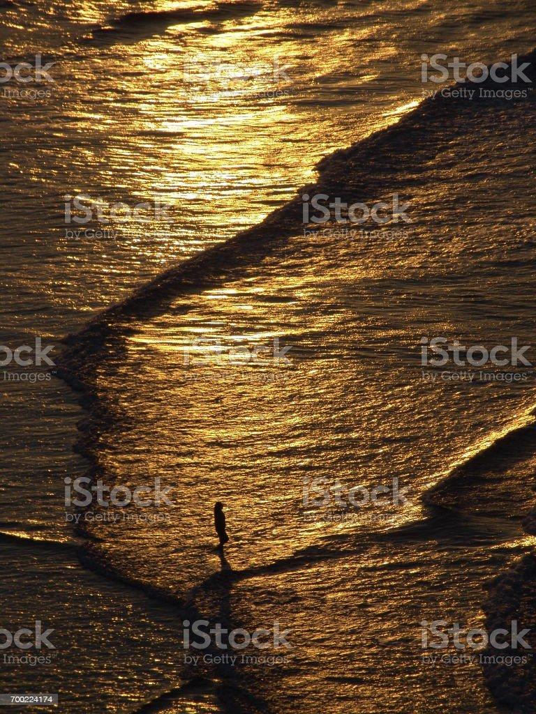 Mar dourado stock photo