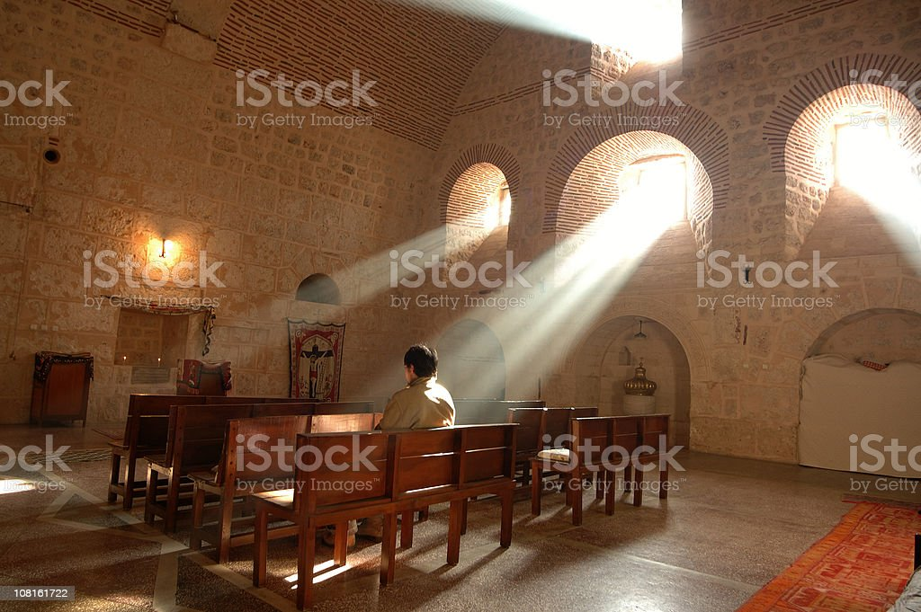Mar Gabriel Monastery -Mardin stock photo