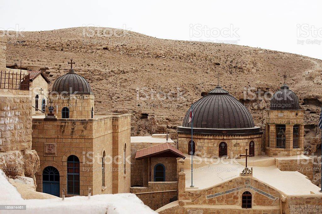Mar Saba - a Greek Orthodox Monastery in Palestine stock photo