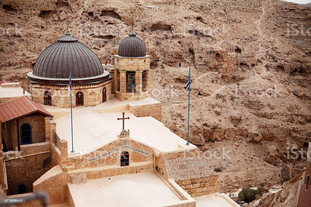 Mar Saba - a Greek Orthodox Monastery in Palestine royalty-free stock photo