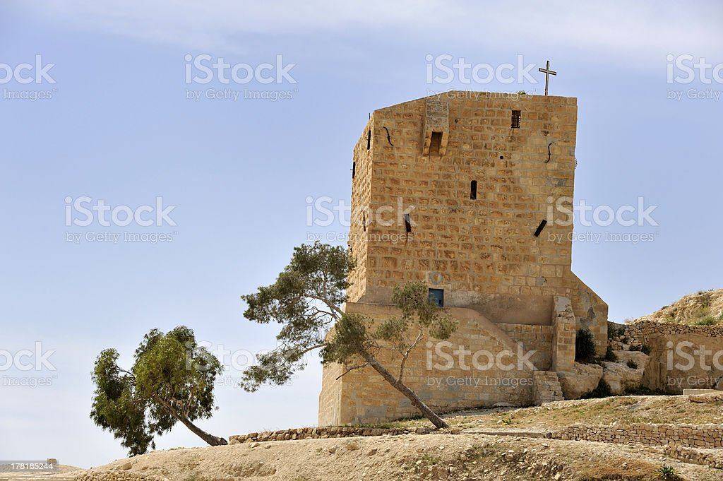 Mar Saba convent guesthouse, Israel. royalty-free stock photo