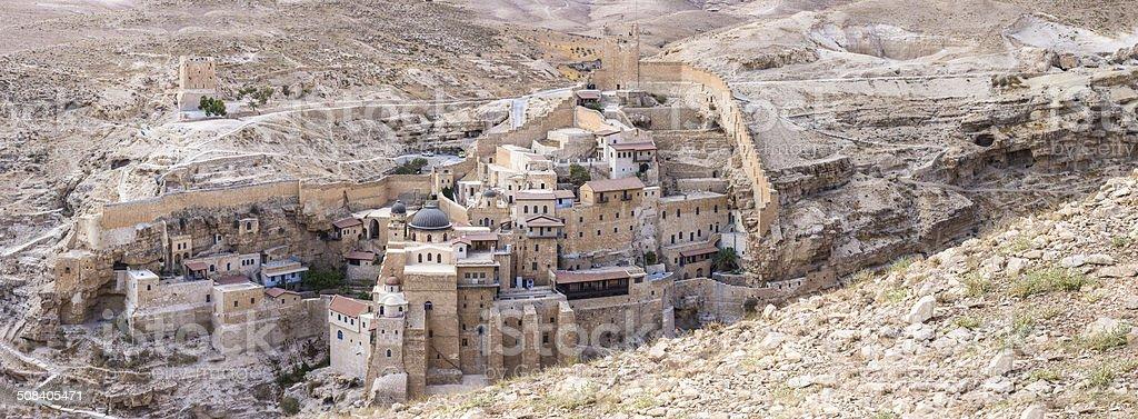 Mar Saba, Greek Orthodox Monastery, Panorama stock photo