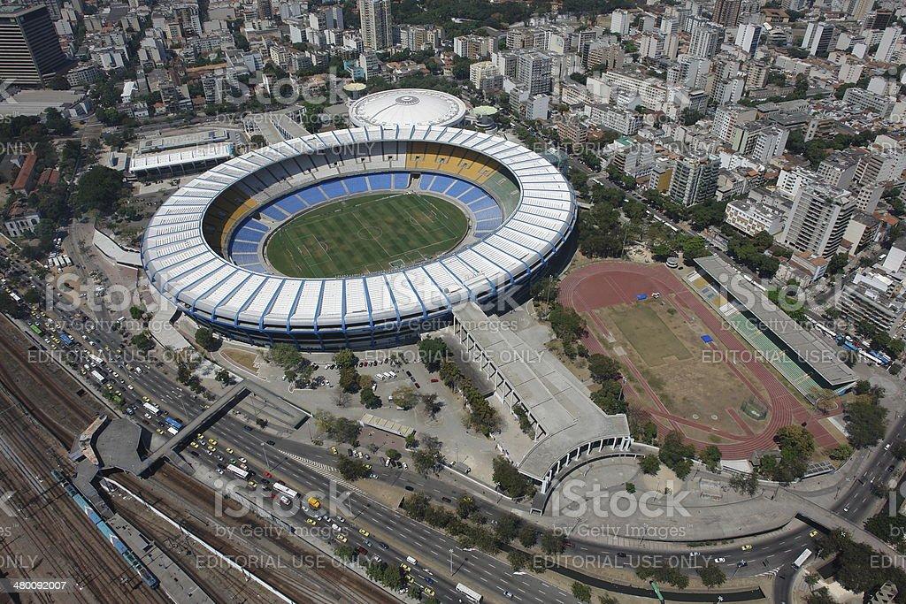 Maracana soccer stadium, the largest in the world, Rio, Brazil royalty-free stock photo