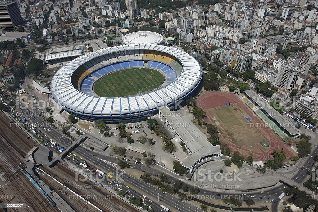 Maracana soccer stadium, the largest in the world, Rio, Brazil stock photo