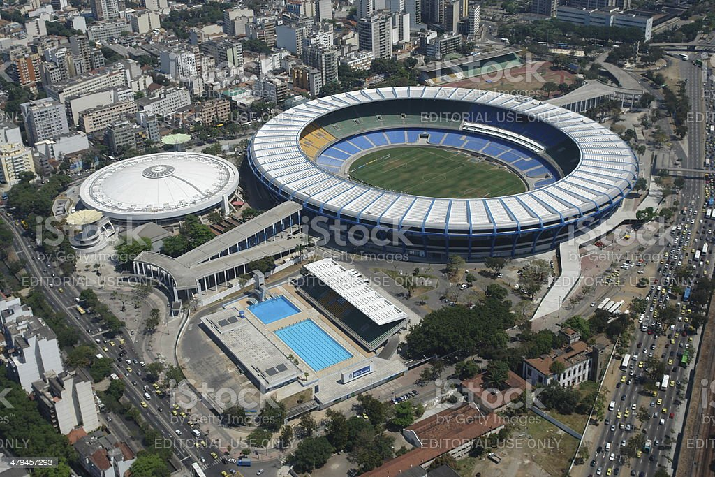 Maracana Stadium, Rio de Janeiro, home to two World Cups royalty-free stock photo