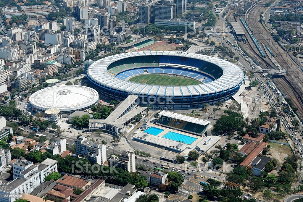 Maracana stadium where it was decided to World Cup 2014 stock photo