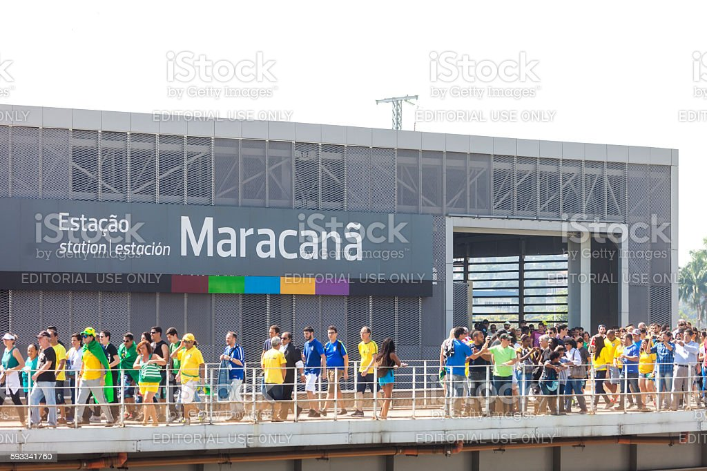 Maracana subway Station in Rio stock photo