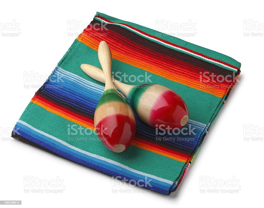 Maracas and Blankets stock photo