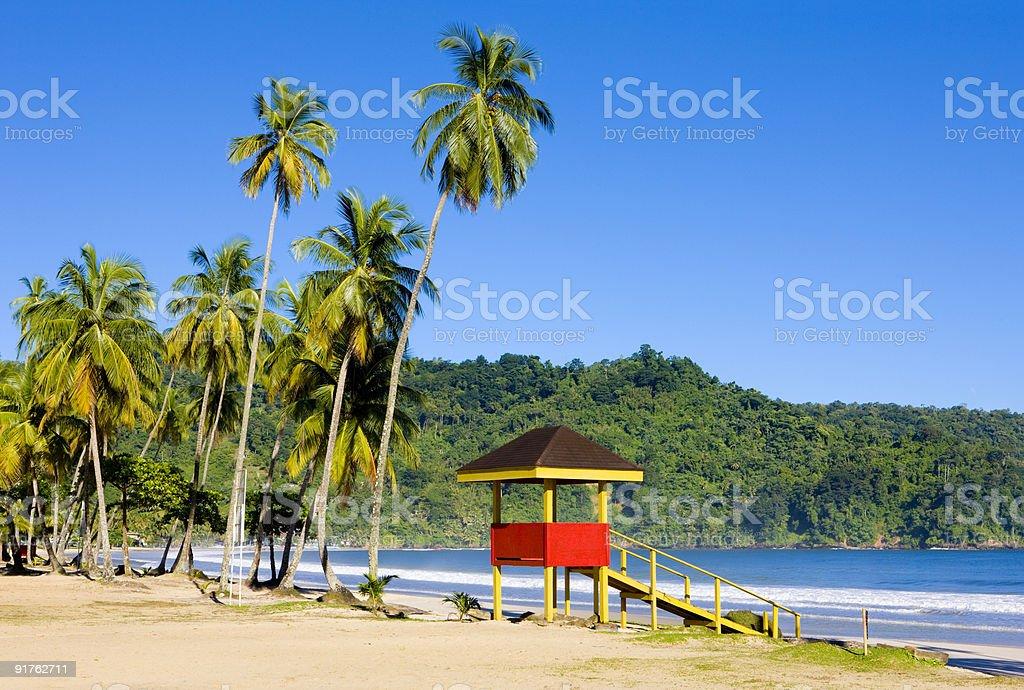 Maracas Bay, Trinidad  and Tobago royalty-free stock photo