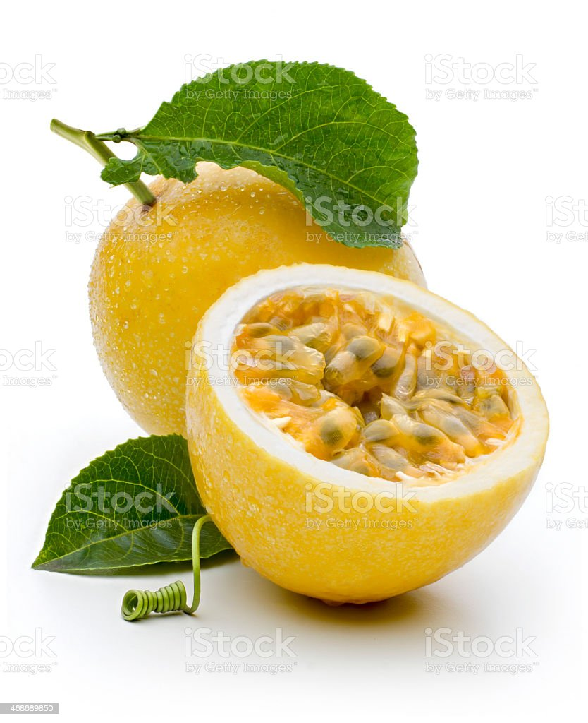 Maracuja, passion-fruit stock photo