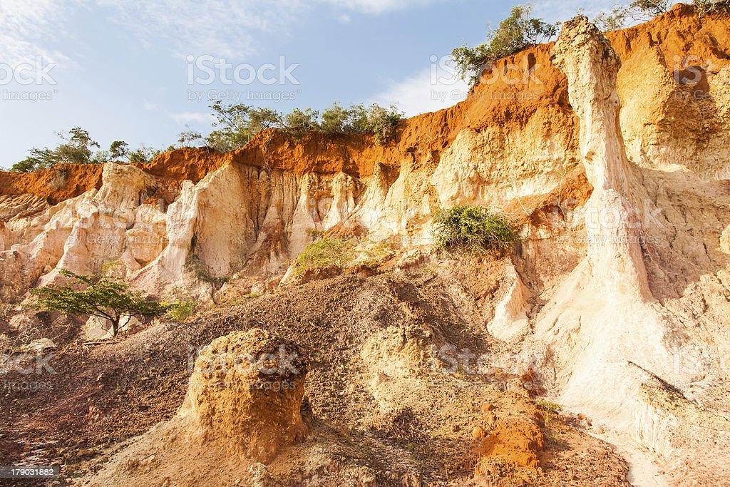 Marafa Canyon - Kenya stock photo
