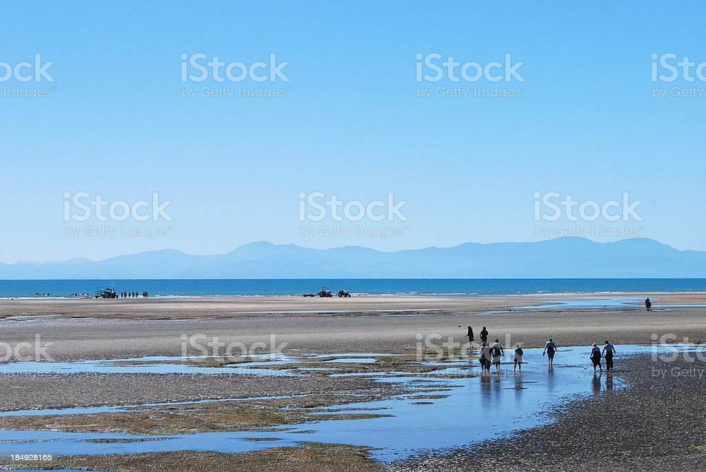 Marahau Beach on Spring Morning royalty-free stock photo