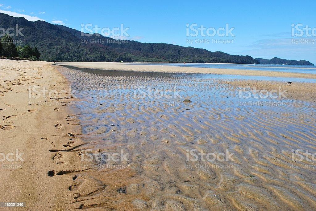 Marahau Beach, The Abel Tasman National Park, NZ royalty-free stock photo