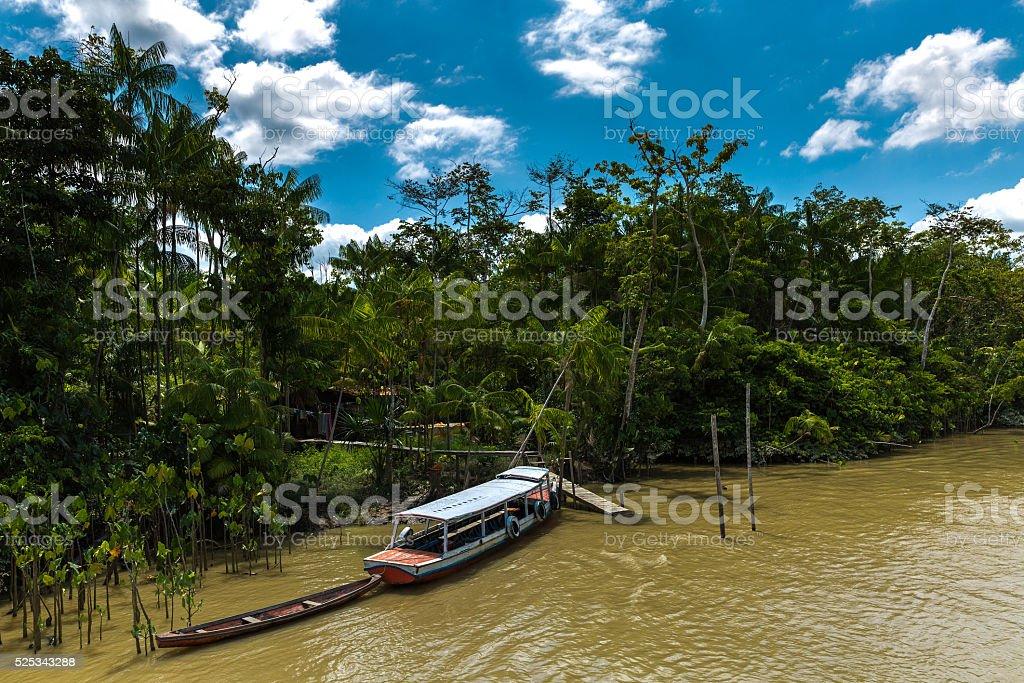 Marajo river in Belem do Para, Brazil stock photo