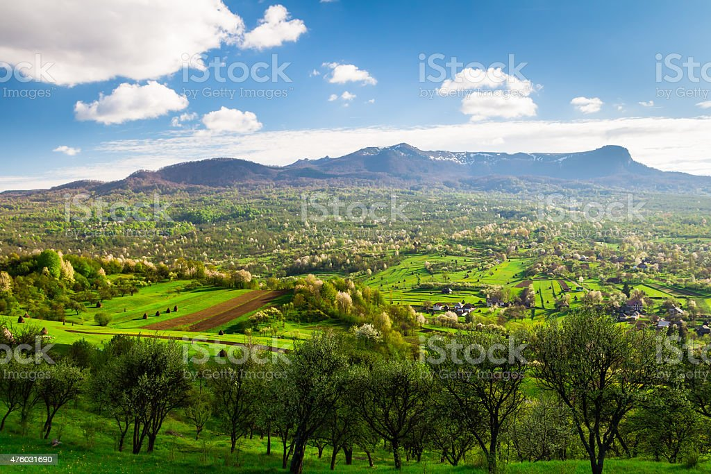Maramures Landscape stock photo