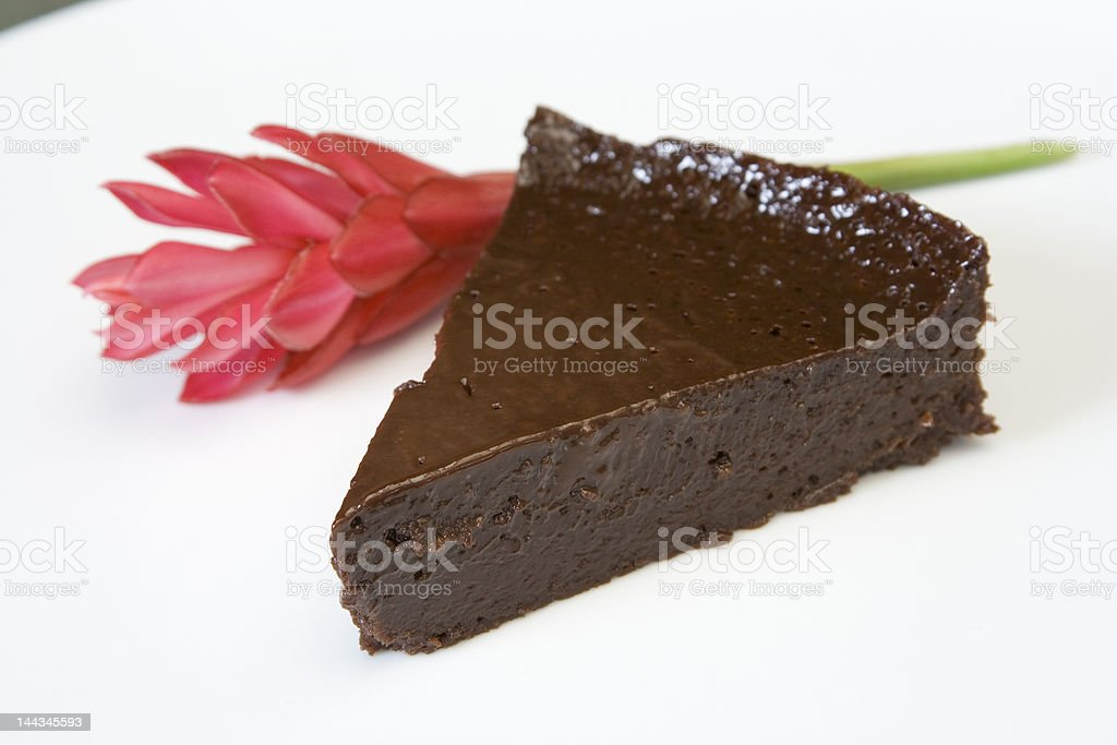Mara's Flourless Chocolate Cake stock photo