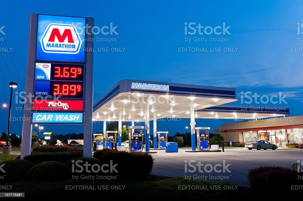 Marathon Convenience Store Gasoline Station stock photo
