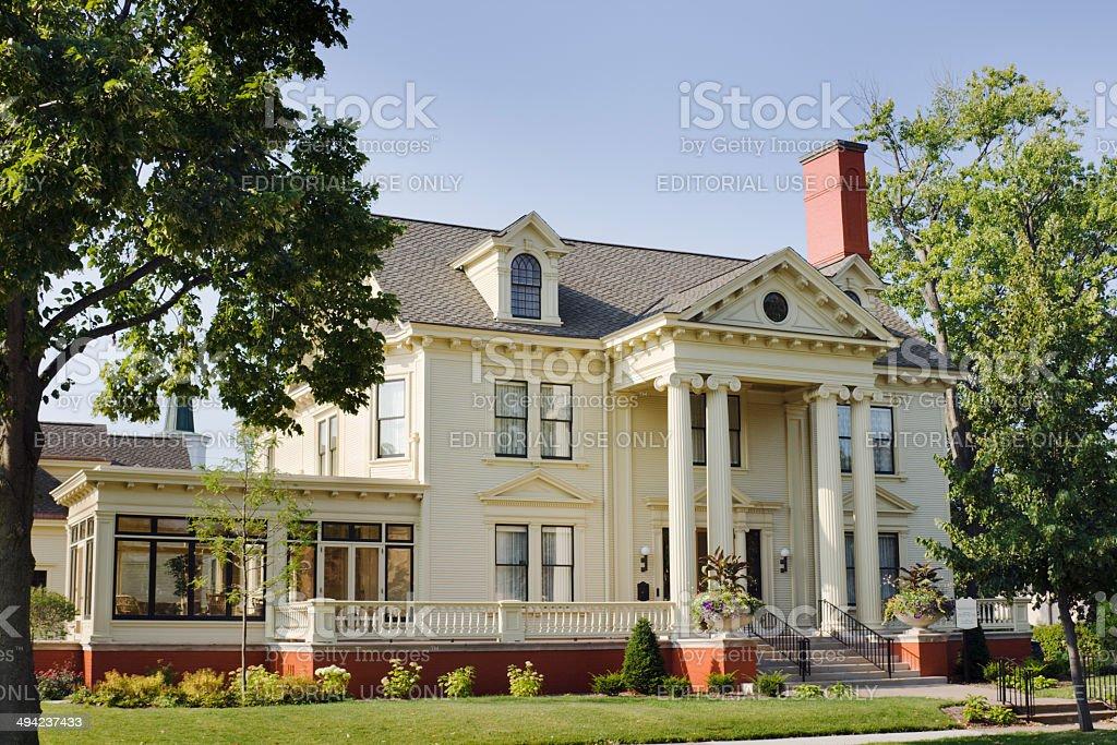 Marathon County Historical Museum, Cyrus Carpenter Yawkey House, Wausua, Wisconsin stock photo