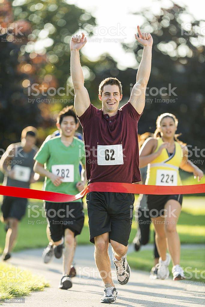 Marathon Finish Line royalty-free stock photo