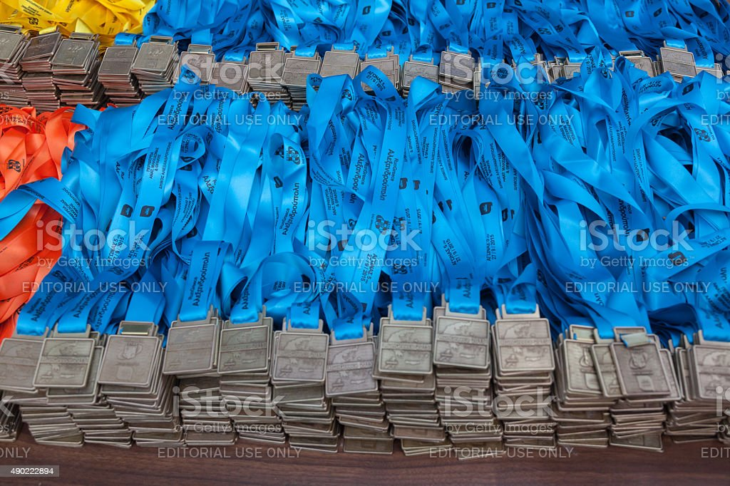 Marathon in Greece stock photo