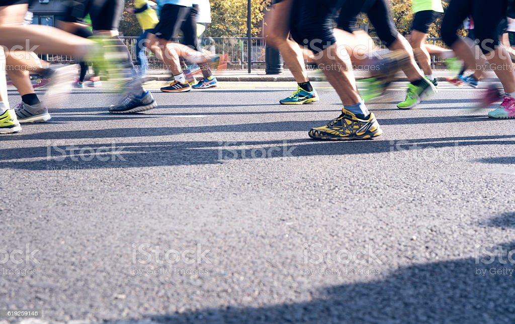 Marathon is our passion stock photo
