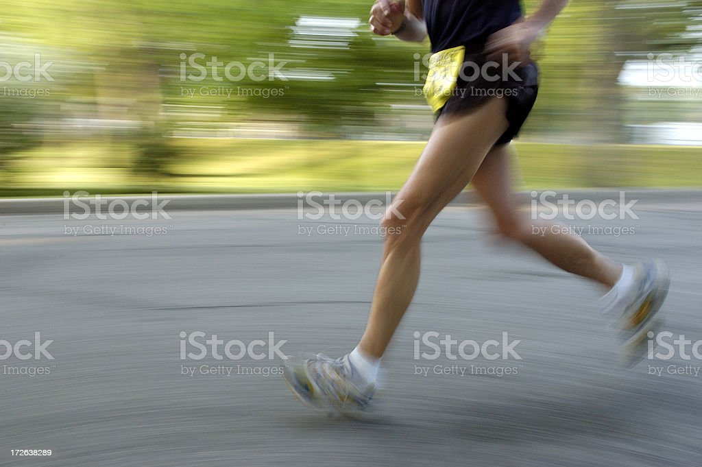 Marathon motion stock photo