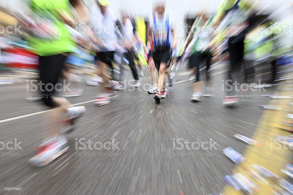 Marathon movement royalty-free stock photo
