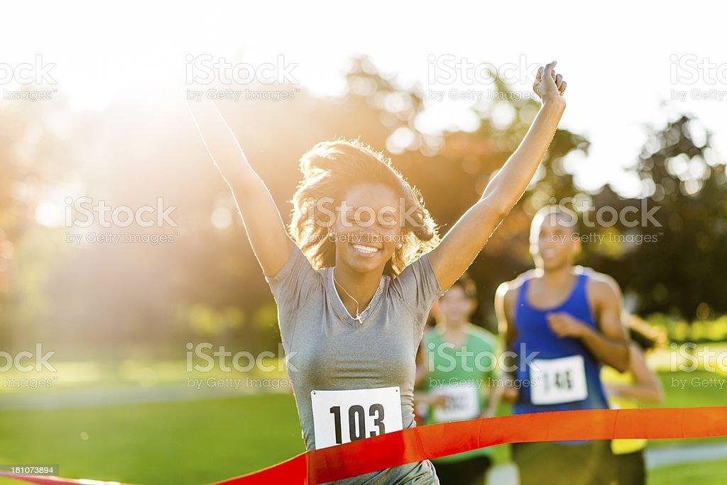 Marathon; Outdoor Fitness royalty-free stock photo