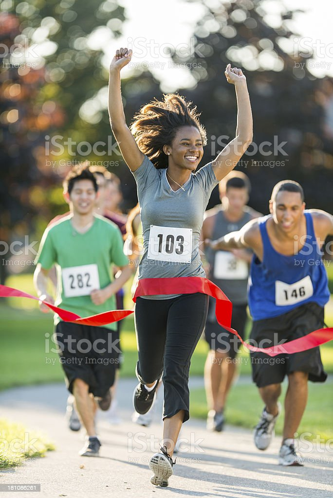 Marathon; Outdoor Fitness stock photo