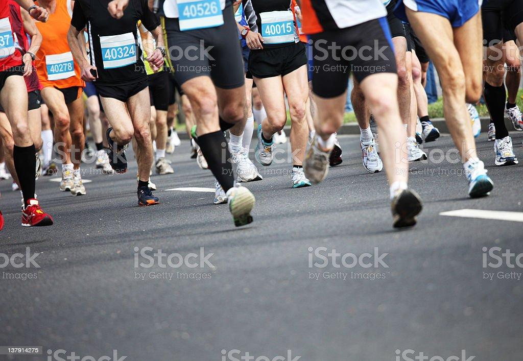 Marathon royalty-free stock photo
