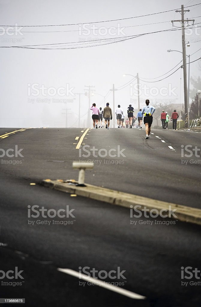 Marathon Run royalty-free stock photo