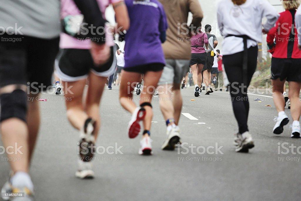 Marathon Run royalty-free stock photo
