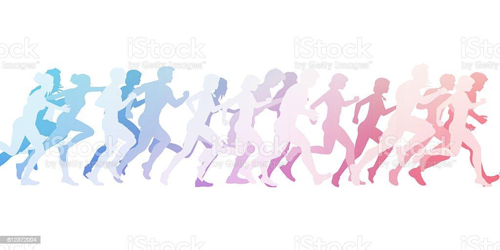 Marathon Run stock photo