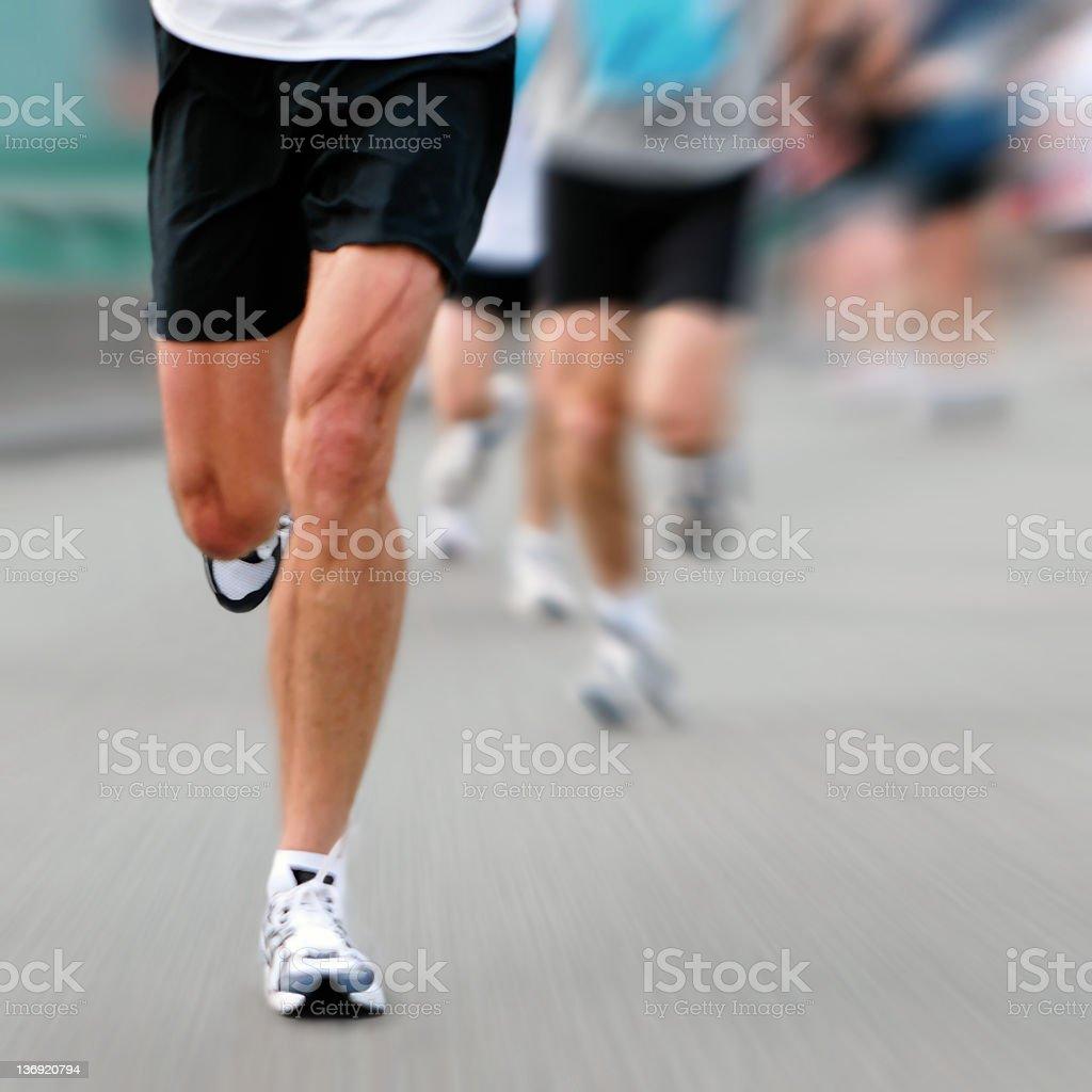 marathon runner stock photo