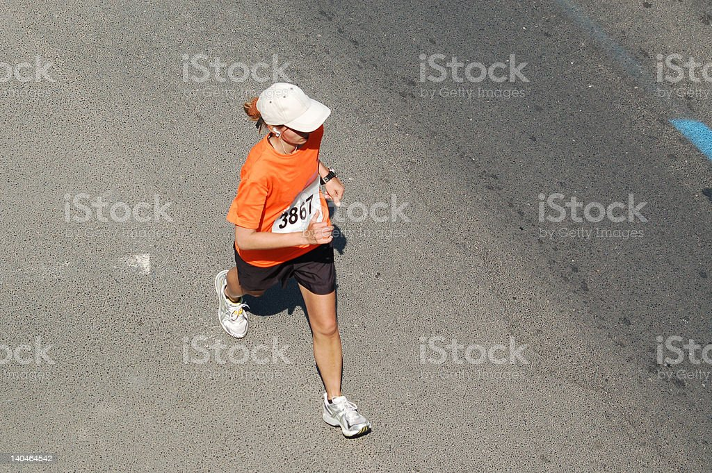 Marathon Runner stock photo