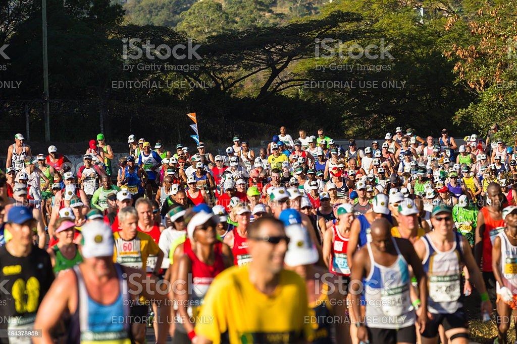 Marathon Runners Action stock photo