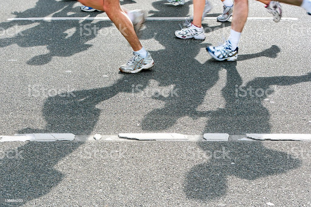 XL marathon runners royalty-free stock photo
