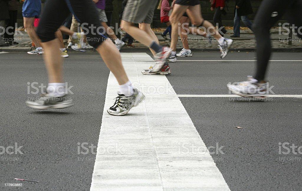 Marathon Runners royalty-free stock photo