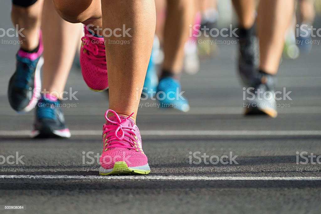 Marathon runners royalty-free stock photo