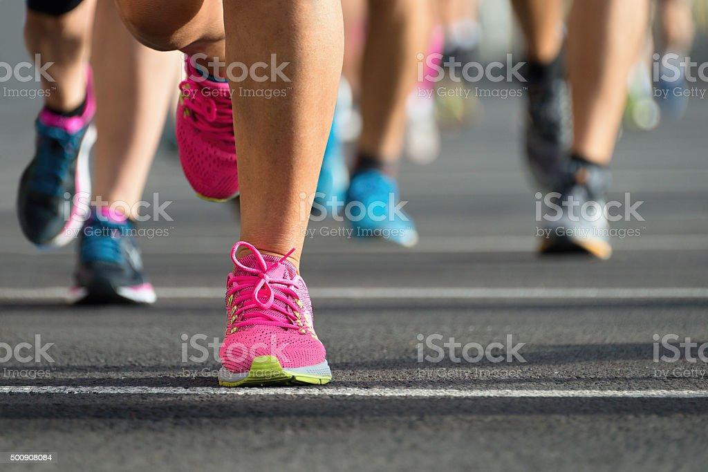 Les coureurs du Marathon - Photo