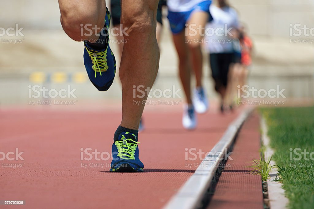 Marathon runners stock photo