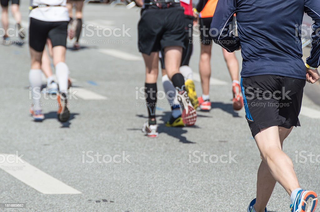 Marathon running royalty-free stock photo