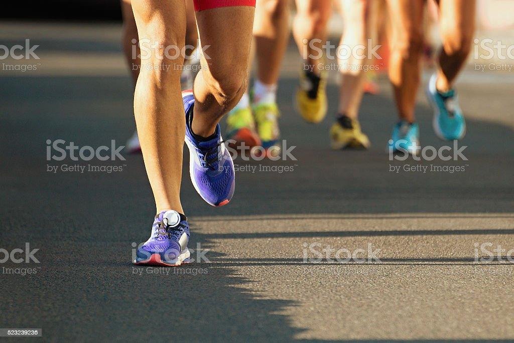 Marathon running stock photo