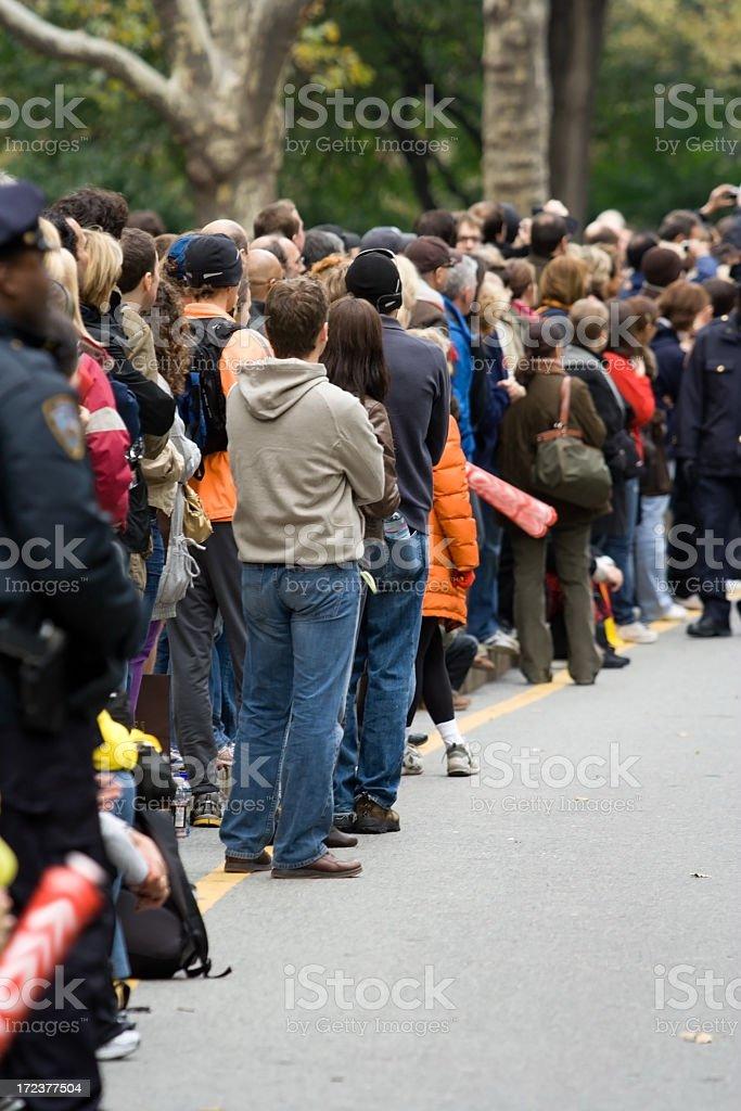 Marathon Spectators stock photo